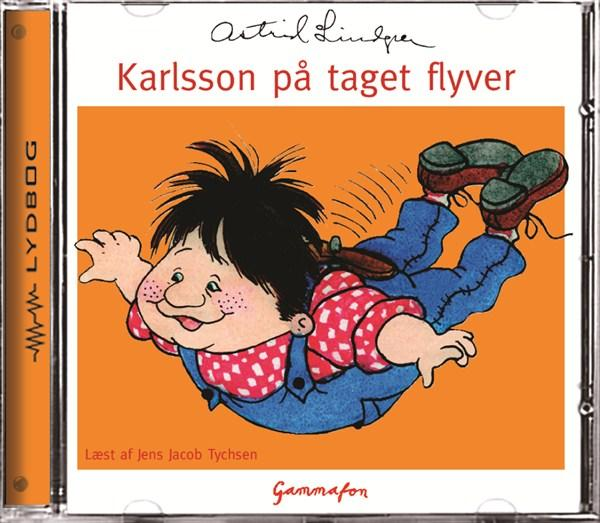 astrid lindgren Karlsson på taget flyver (lydbog) fra bogreolen.dk