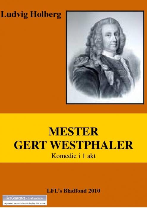 Mester gert westphaler (e-bog) fra ludvig holberg på bogreolen.dk