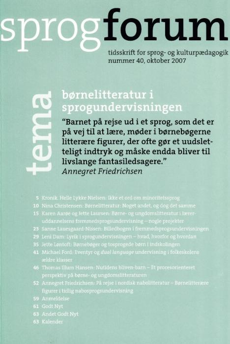 Image of   Børnelitteratur i sprogundervisningen (E-bog)