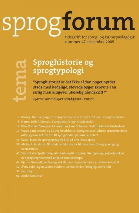 Sproghistorie og sprogtypologi (e-bog) fra nanna bjargum fra tales.dk