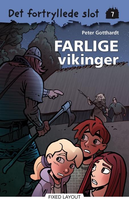 peter gotthardt Det fortryllede slot 7: farlige vikinger (e-bog) på bogreolen.dk