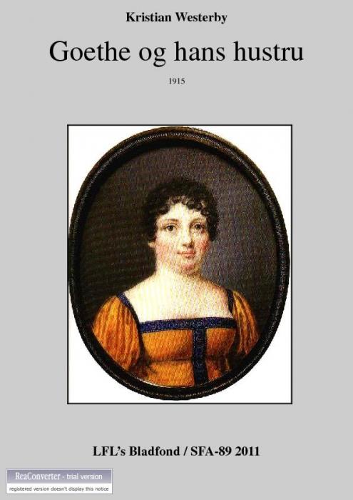 kristian westerby Goethe og hans hustru (e-bog) på bogreolen.dk