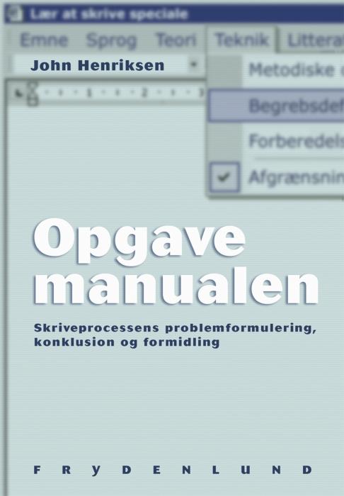 Opgavemanualen (E-bog)