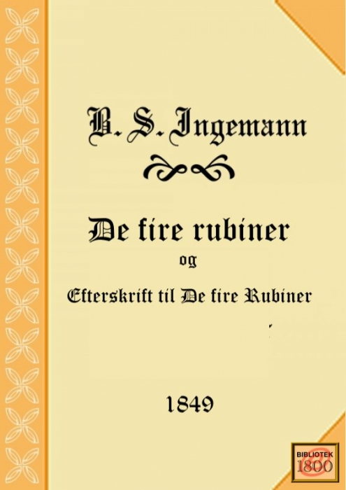 b. s. ingemann – De fire rubiner (e-bog) fra bogreolen.dk