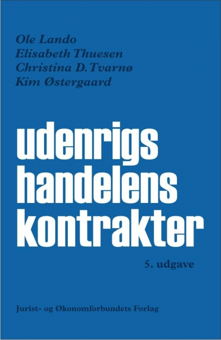 ole lando – Udenrigshandelens kontrakter (e-bog) fra bogreolen.dk