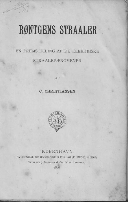 c christiansen Røntgens stråler (e-bog) på bogreolen.dk