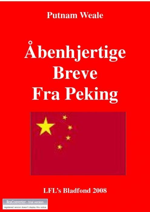 Image of   Åbenhjertige breve fra Peking (E-bog)