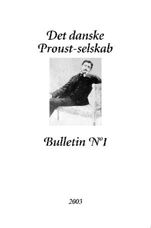 Proust bulletin no 1 (e-bog) fra kirsten thorup på bogreolen.dk