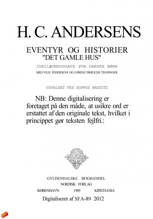 h. c. andersen Det gamle hus (e-bog) på bogreolen.dk