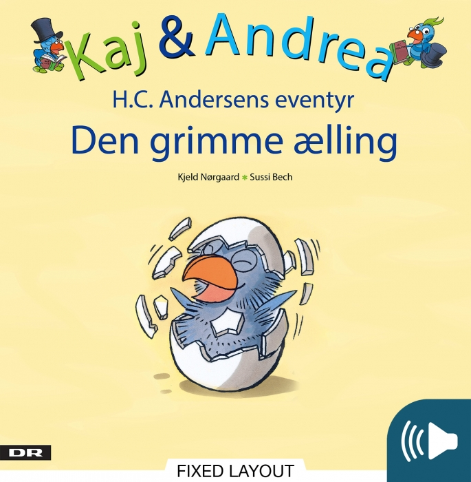 kjeld nørgaard Kaj & andrea - den grimme ælling (e-bog) på bogreolen.dk
