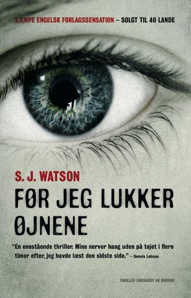 s.j. watson Før jeg lukker øjnene (lydbog) fra bogreolen.dk