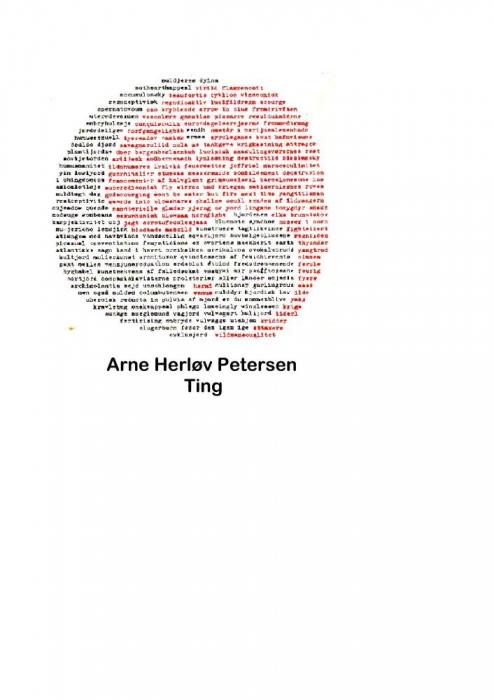 arne herløv petersen – Ting (e-bog) fra bogreolen.dk