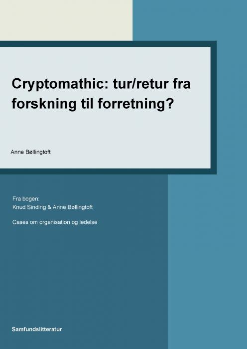anne bøllingtoft – Cryptomathic: tur/retur fra forskning til forretning? (e-bog) fra tales.dk