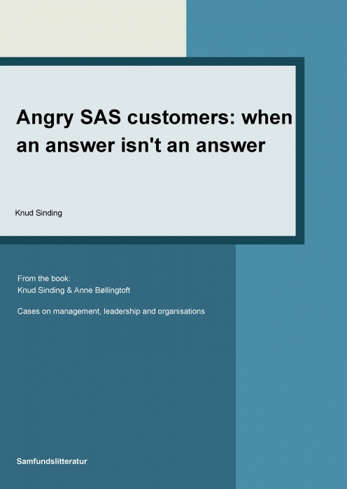 knud sinding Angry sas customers - when an answer is not an answer (e-bog) fra tales.dk