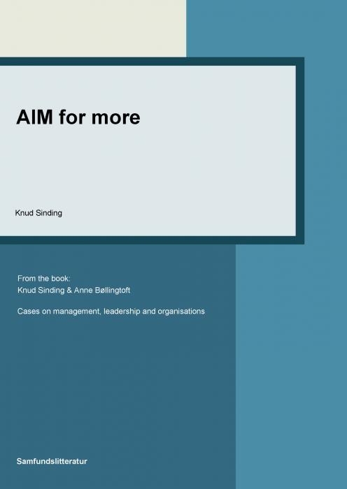 knud sinding – Aim for more (e-bog) fra bogreolen.dk