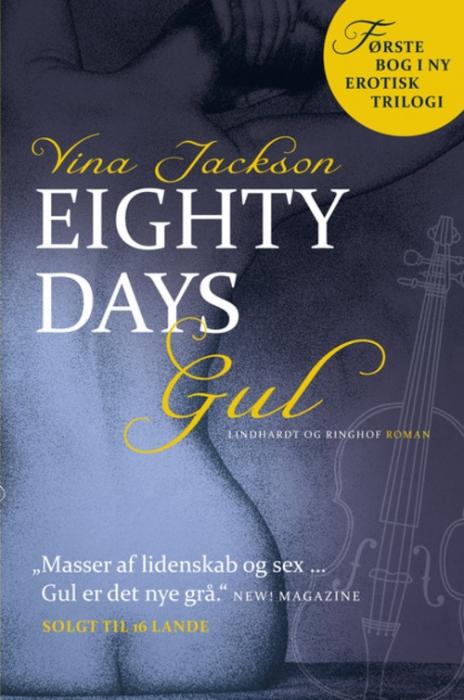 vina jackson – Eighty days  -  gul (lydbog) fra bogreolen.dk
