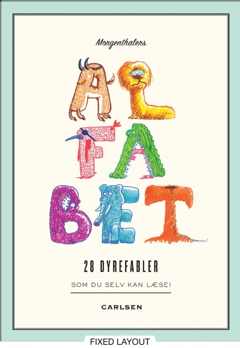 Image of Morgenthalers ALFABET: 28 dyrefabler, som du selv kan læse (E-bog)