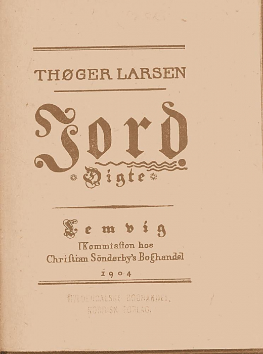 thøger larsen – Jord (e-bog) på tales.dk