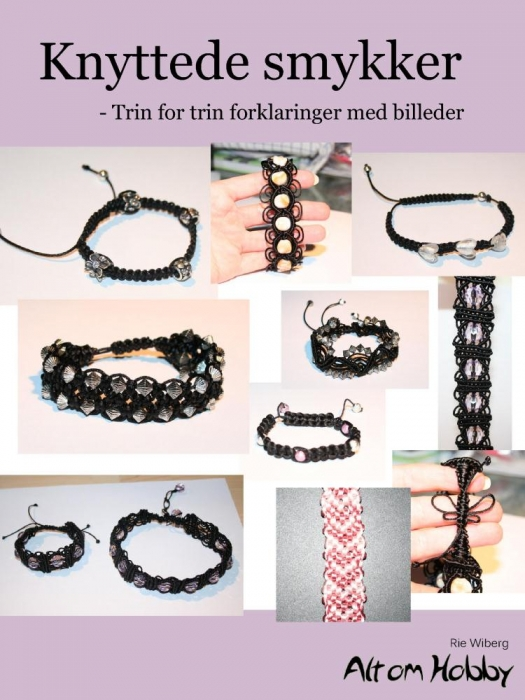 Knyttede smykker - trin for trin forklaringer med billeder (e-bog) fra rie wiberg fra tales.dk