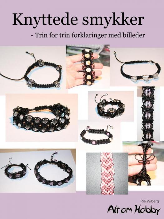 rie wiberg Knyttede smykker - trin for trin forklaringer med billeder (e-bog) fra bogreolen.dk
