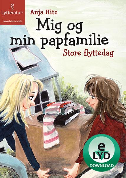 anja hitz Mig og min papfamilie - store flyttedag (lydbog) fra bogreolen.dk