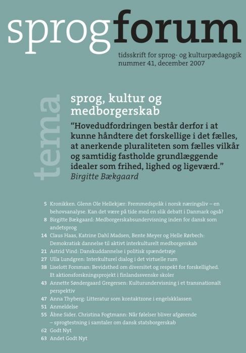 Image of   Sprog, kultur og medborgeskab (E-bog)