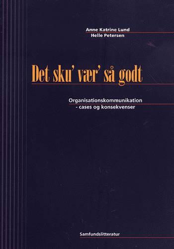 Image of Det sku´ vær´ så godt (Bog)