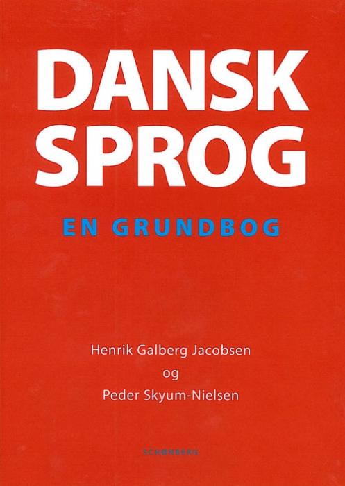 Image of   Dansk sprog (Bog)
