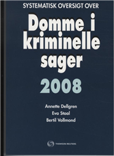 Image of Systematisk oversigt over Domme i kriminelle sager 2008 (Bog)