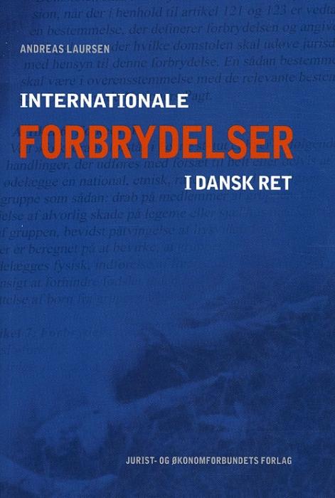Image of Internationale forbrydelser i dansk ret (Bog)