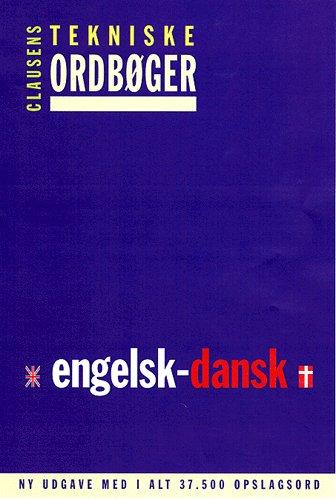 Image of   Clausens tekniske ordbøger, Engelsk-dansk (Bog)