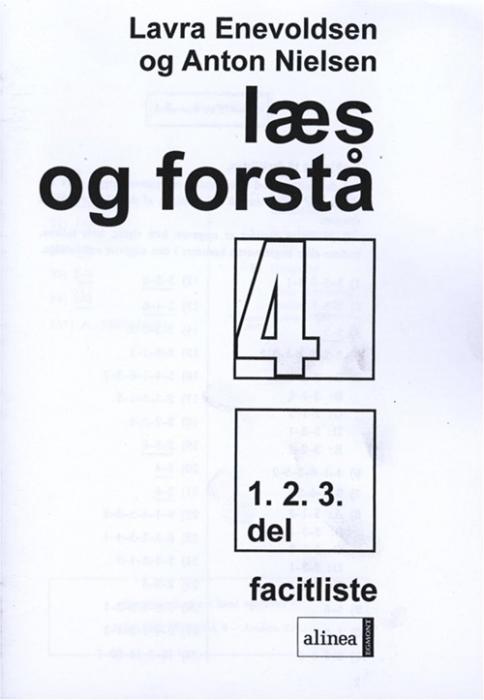 Image of Læs og forstå 4, 1-3 Facitliste (Bog)