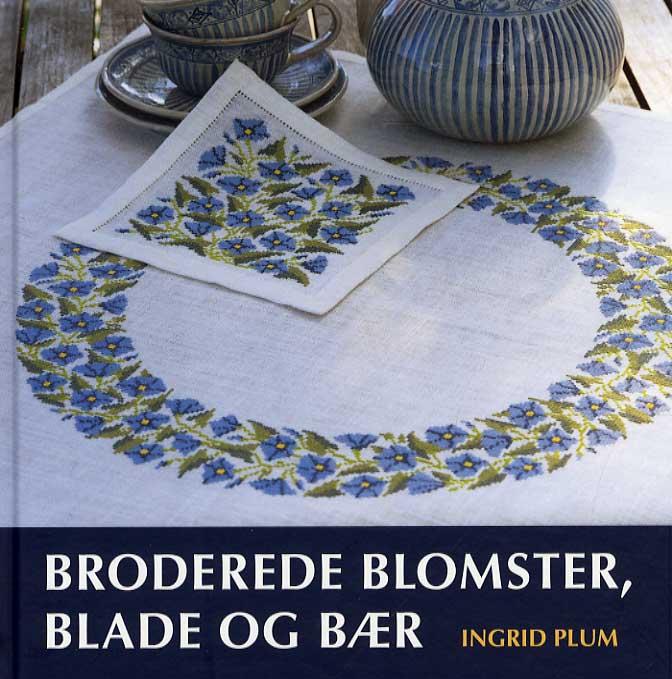 Image of   Broderede blomster, blade og bær (Bog)