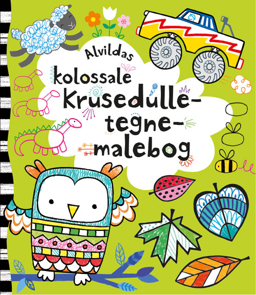 Image of   Alvildas kolossale krusedulle-tegne-malebog (Bog)