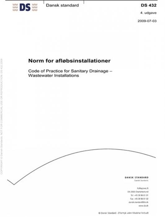Image of   DS 432 Norm for afløbsinstallationer (Bog)