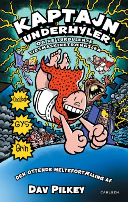 Image of   Kaptajn Underhyler (8) - Kaptajn Underhyler og de turbulente tidsmaskinetrængsle (Bog)