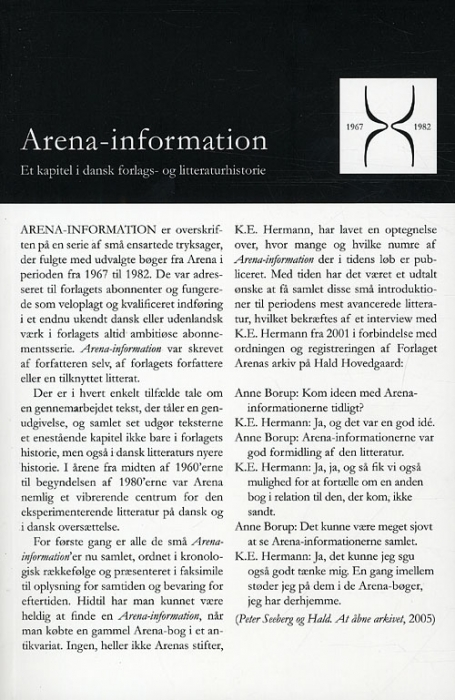 Image of   Arena-information 1967-1982 (Bog)