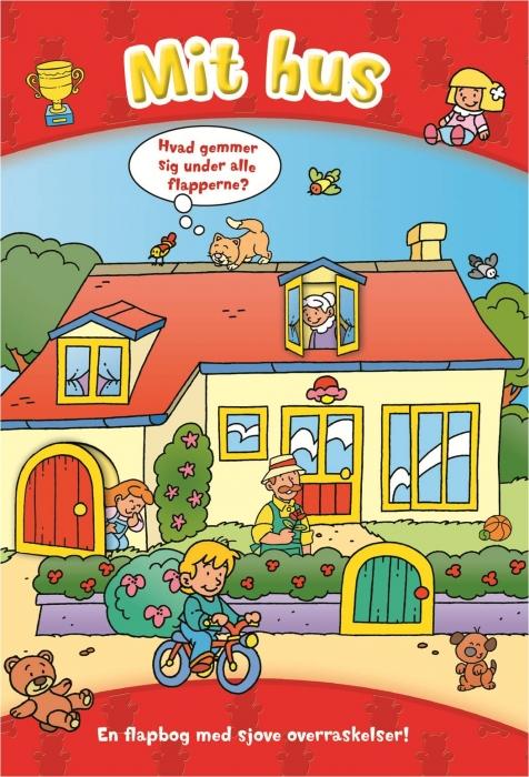 Image of   Den store flapbog: Mit hus (Bog)