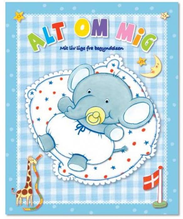 Image of   Alt om mig (lyseblå) (Bog)