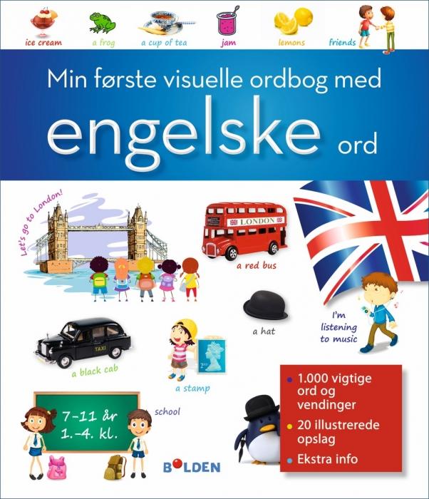Min første visuelle ordbog med engelske ord (Bog)