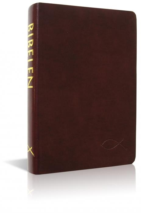 Image of   Bibelen på hverdagsdansk, brunt skind (Bog)
