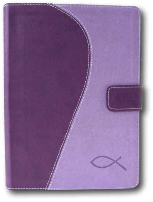 Image of   Bibelen på hverdagsdansk, lilla m/magnetlås (Bog)
