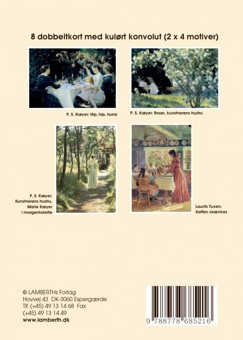 Image of   5 stk. gaveæsker med 8 dobbeltkort og creme konvolut (Bog)