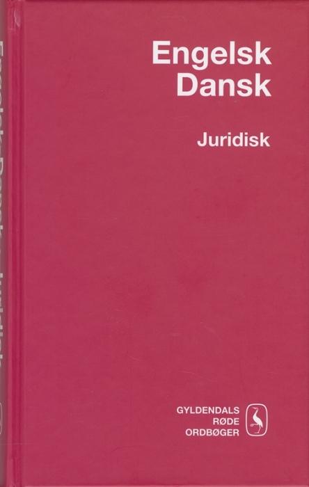 Engelsk-Dansk Juridisk Ordbog (Bog)