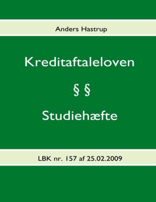 Image of Kreditaftaleloven - Studiehæfte (Bog)