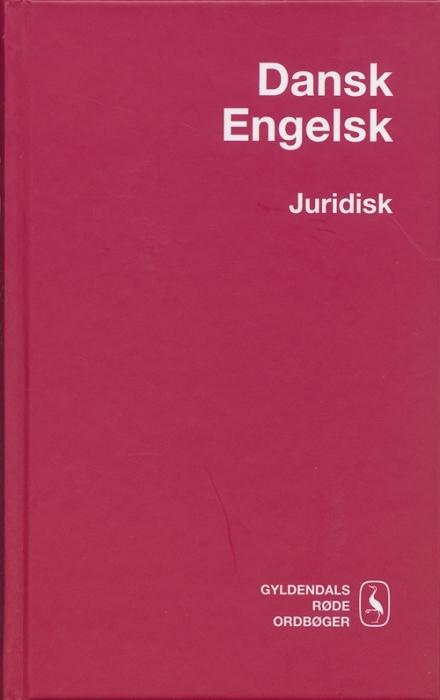 Dansk-Engelsk Juridisk Ordbog (Bog)