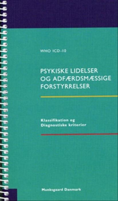 Image of Psykiske lidelser og adfærdsmæssige forstyrrelser (Bog)