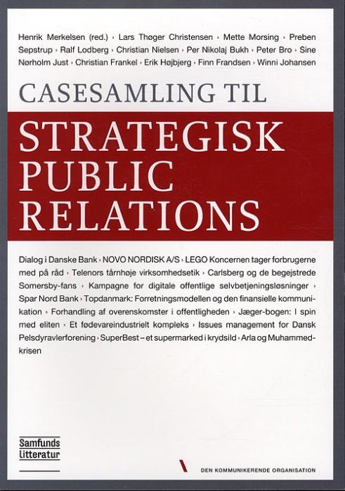 Image of   Casesamling til Strategisk public relations (Bog)