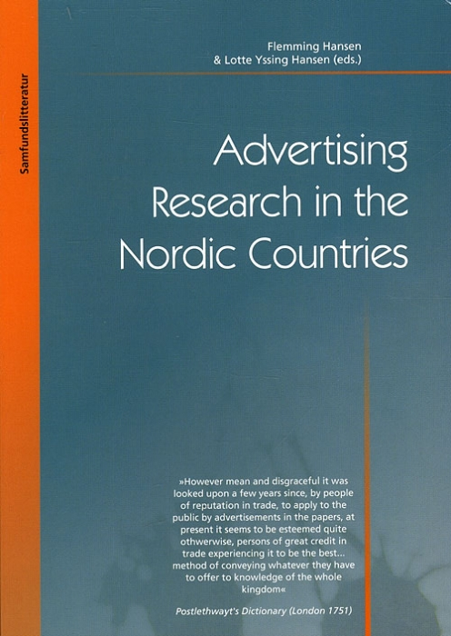 Image of   Advertising Research in the Nordic Countries (Bog)