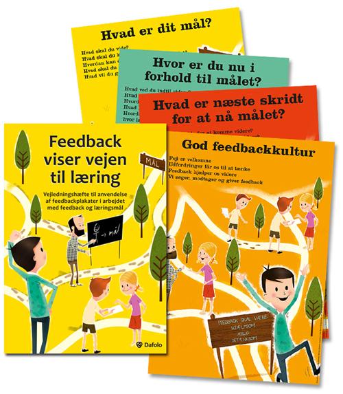 Feedback viser vejen til læring - pjece samt 4 stk. plakater (Bog)